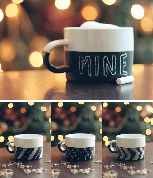 Style Files: DIY Chalkboard Paint Mugs