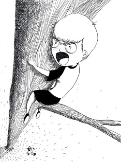 Self Portrait of when I was a kid, and got stuck in a tree