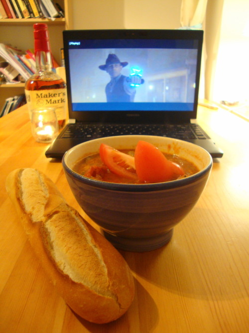An Hombro's Evening In: Fish Stew, Maker's Mark, Cowboys, and Aliens