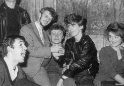 1961, Paul, Ringo and George at Vi Caldwell's house, Liverpool