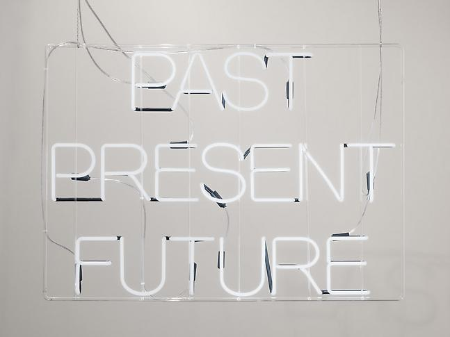 curated-by:  Claire Fontaine, Past Present Future, 2011