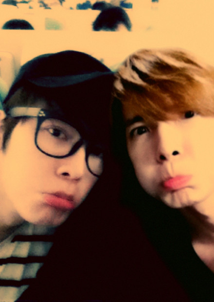 Donghae twins!!! what's with the pout, bbs? what do you want now?