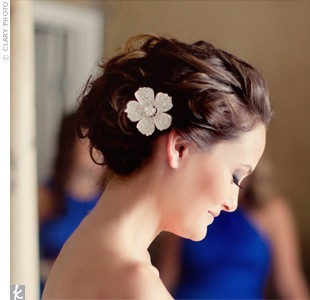 perfect wedding hair!