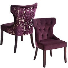 Purple Arm Chairs