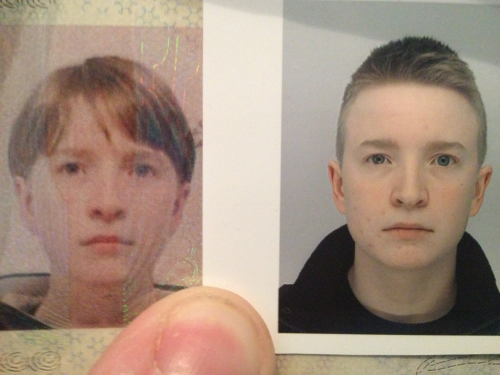 Three years ago vs now, nearly 6 months on T. Ah, the flattering ability of passport photos…