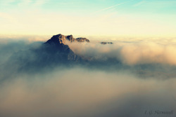 Rising over the clouds by El Bichólogo Errante on Flickr.