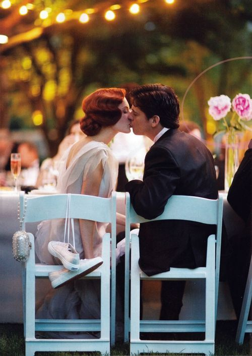 Taylor Tomasi  wedding kiss
