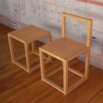 Library Chair and Stool #42, Donald Judd