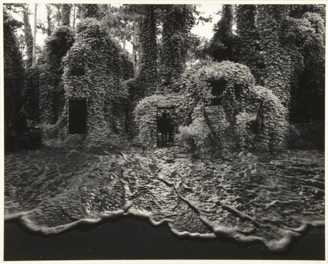 Jerry Uelsmann, Kudzu House with Surf