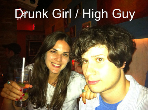 funnyordie:  Drunk Girl/High Guy Cultural Review: We Went to a Zoo Sarah gets really drunk. Noah gets really high. They go to the zoo and discuss their vastly different experiences.