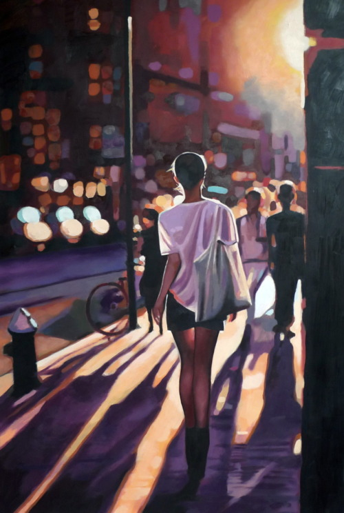 thomassaliot:  street light oil on canvas