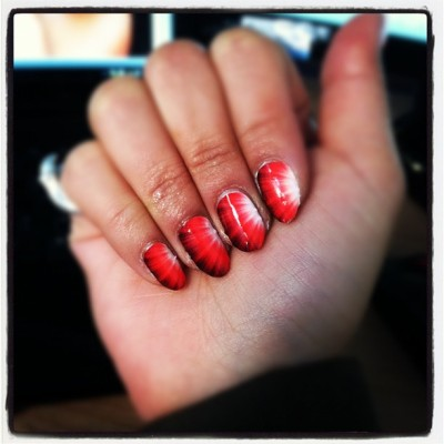 Fiery #nails by #ncla via #karmaloop! #manicure (Taken with Instagram at Karmaloop HQ / Skee.TV & Karmaloop Tv)