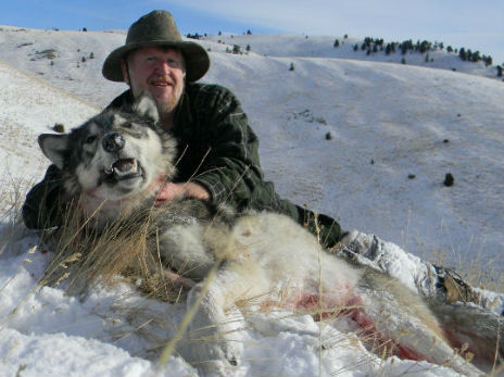 "A Montanan radio station creates Wolf Hunting Photo Contest: ""Win $100 and an annual membership, to Montana Sportsmen for Fish and  Wildlife, by submitting a photo from your successful wolf hunt. Tell  your friends!"" Source: Montana Outdoor Radio Show"