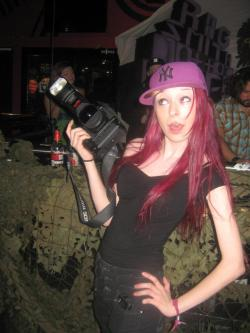 Haha behind the scenes shooting at Voodoo Lounge on Saturday night (photograph taken by Twiggy Von Lea).