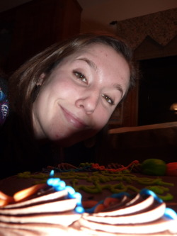 Ways Not to Take a Picture With a Birthday Cake #1