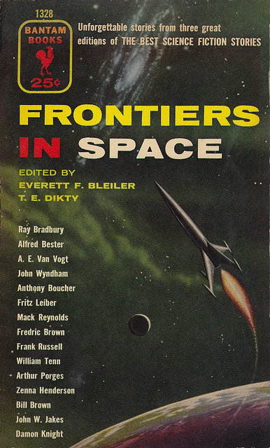 Everett F Bleiler (ed) - Frontiers Of Space (Bantam 1328) on Flickr.Via Flickr: Bleiler, Everett F (ed) Dikty, TE (ed) Frontiers In Space 1955 Bantam 1328 Anthology