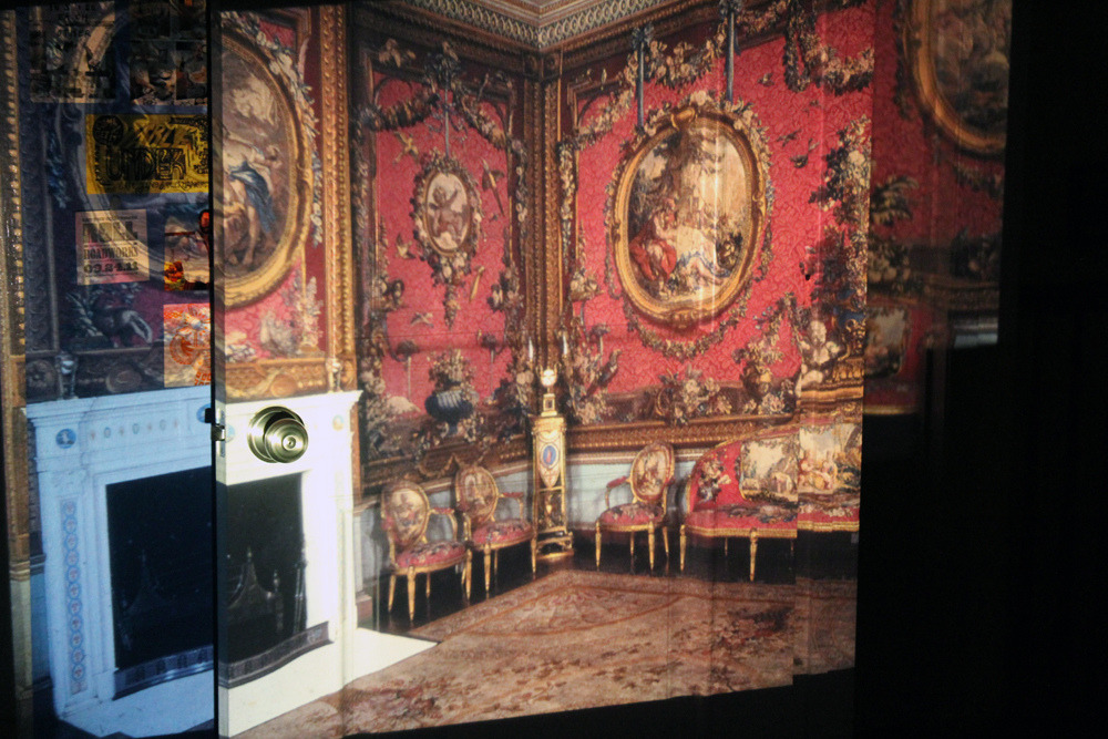 Opulence? I has it. Slide from CCA library free pile, projected on the wall/door of my old room. Slide projector = found 1970s Rollei P37a