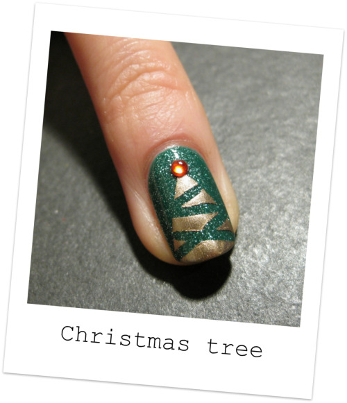 nailside:  Tutorial: Abstract Christmas tree design