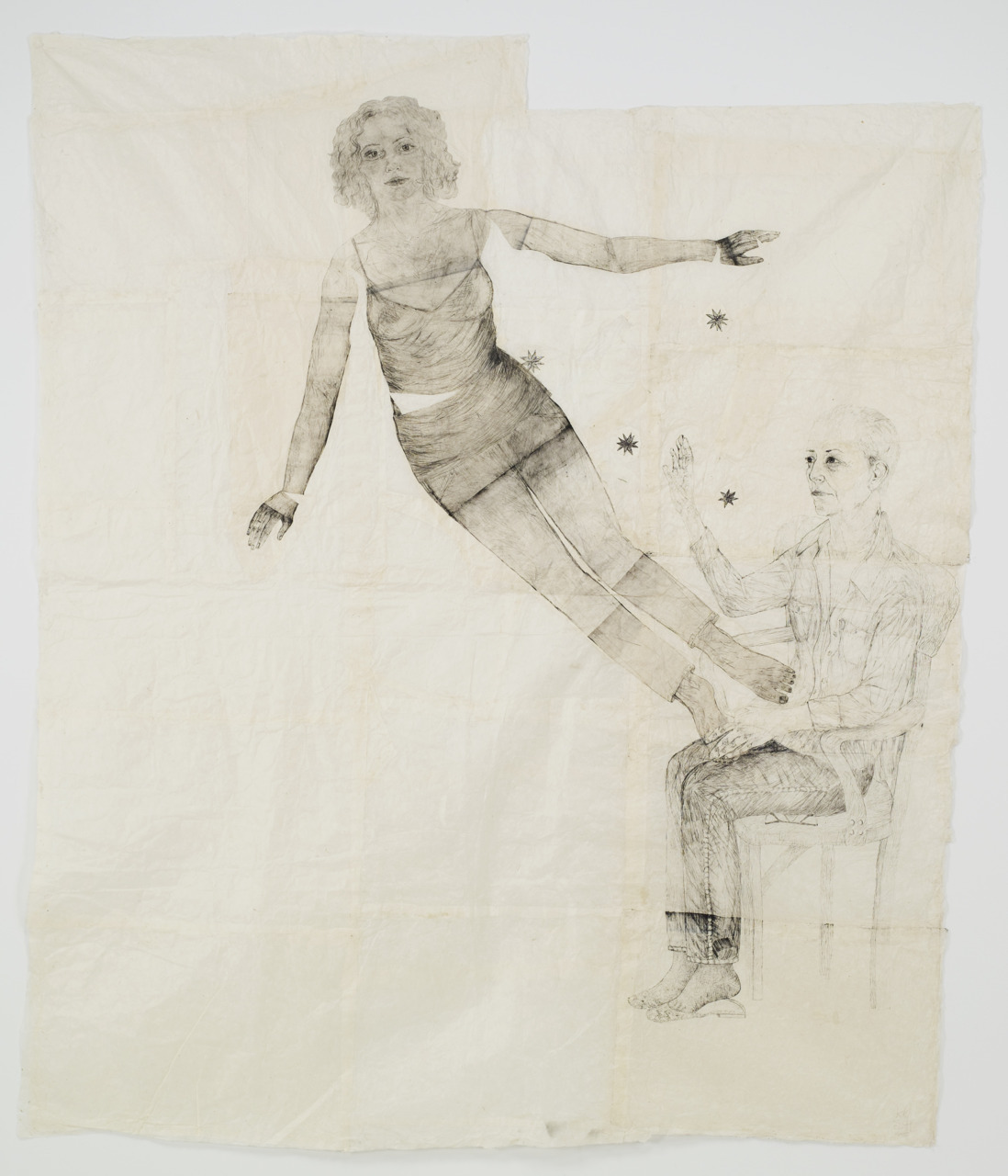 an-itinerant-poet:  Kiki Smith, Coming Forth, 2008. For example, there's a picture here called Coming Forth (2008) and despite knowing your work extremely well, I really wonder what's going on in it. A young, sexy woman seems to be emerging out of the body of an older woman … I hadn't thought about her being sexy! She's just supposed to be a young woman, or a young girl, about eighteen years old. I didn't really sexualize her. That must be in your mind! I meant this as a kind of birth image. People might take it some other way, but in my mind it's a birth image: the younger coming out of the older. http://www.askyfilledwithshootingstars.com/wordpress/?p=1128 inherwar:  Kiki Smith