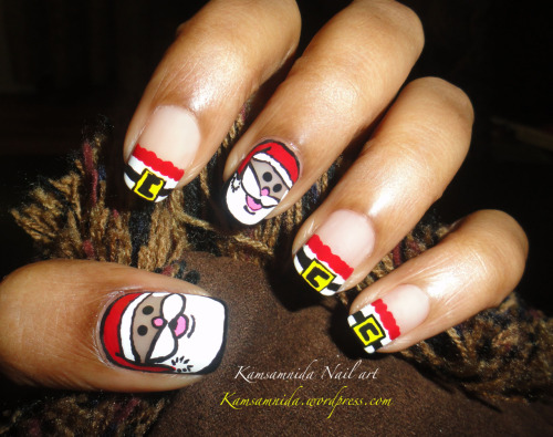 Santa Nail Art Click on the Link to see Tutorial.
