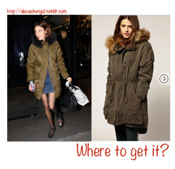 ACID: Where to get it?Alexa is wearing a coat that looks like this coat from ASOS. Get yours here!