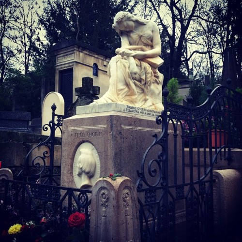 Grave of Chopin (Taken with instagram)