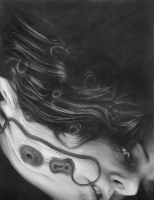 "melissacooke: Surfaced #2, graphite on paper, 49"" x 38"" Melissa Cooke"