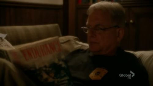 Leroy Jethro Gibbs of NCIS reading Endurance by Alfred Lansing