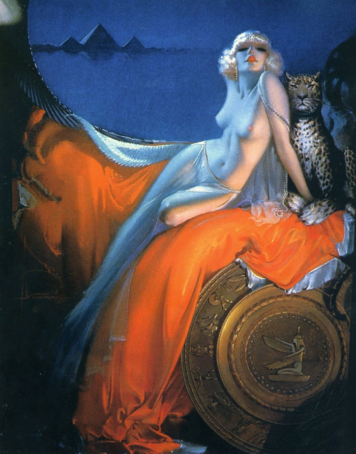 mudwerks:  (via Exotic Painting: Art Deco Cleopatra)  Cleopatra (1939) by the American artist Rolf Armstrong (1889-1960).