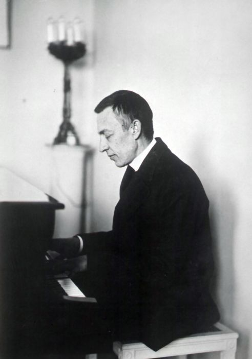 Sergei Rachmaninoff - 6'7 of complete babe. He was a concert pianist as well as a composer, and was equally famous in both respects. His pieces were devilishly hard, which he could play with relative ease; it might have something to do with his massive handspan… C to G#. (yeah, that's a 14th.) His music is absolutely gorgeous (see: 2nd piano concerto) as well as hauntingly beautiful (Isle of the Dead, The Bells, Prelude in C# minor) Even after the government trashed his house in the middle of the night, forcing him to watch his gorgeous Steinway be lit on fire and pushed from the second floor he went to New York and owned shit there. It was said that if Rachmaninoff was playing a piece, no other pianist dared to play it that season. His idol was Tchaikovsky, who was also a complete babe, and he was the one of the last Romantic composers, so basically when he died he took Romaticism with him. He died of skin cancer in 1943, and is buried with his wife in New York.