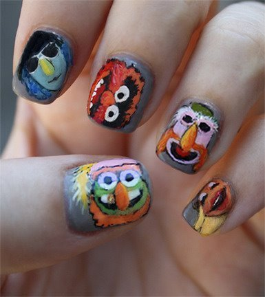 Improbable project for this weekend: Muppet Nails.