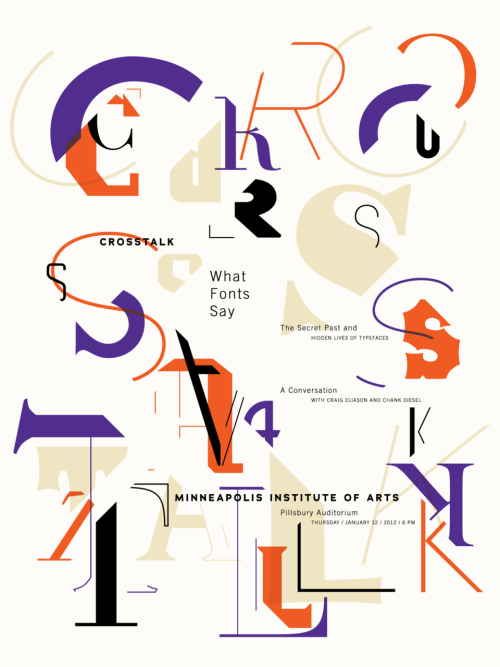 Poster: Cross Talk: What Fonts Say. Anne Ulku. 2012