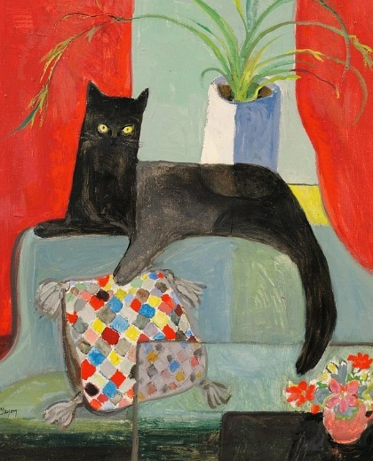 Dorothy Lake Gregory Portrait of a Black Cat 20th century