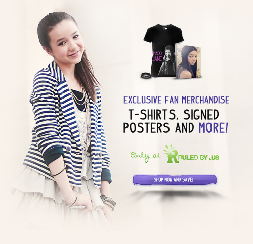 maddijanemusic:  Maddi Jane merchandise is available through RuledBy.Us. Shipping Everywhere now!
