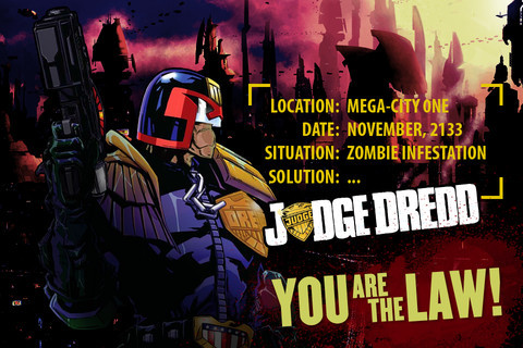 The Judge Dredd vs Zombies game for the iPhone/iPad is now free. So treat yourself this Christmas.