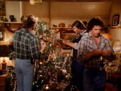 dogisland:  Cooter and the boys trimming the tree.   lol I need to see this episode D: