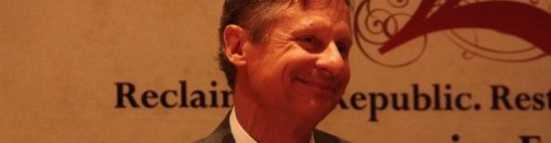 Gary Johnson: Exclude me GOP?!? I'm gonna run as a Libertarian, jerks!: After showing up in a grand total of one major debate (in which he made a dog poo joke), the former New Mexico governor will take a stab at running on a third-party ticket. Think he might have a shot? source Follow ShortFormBlog