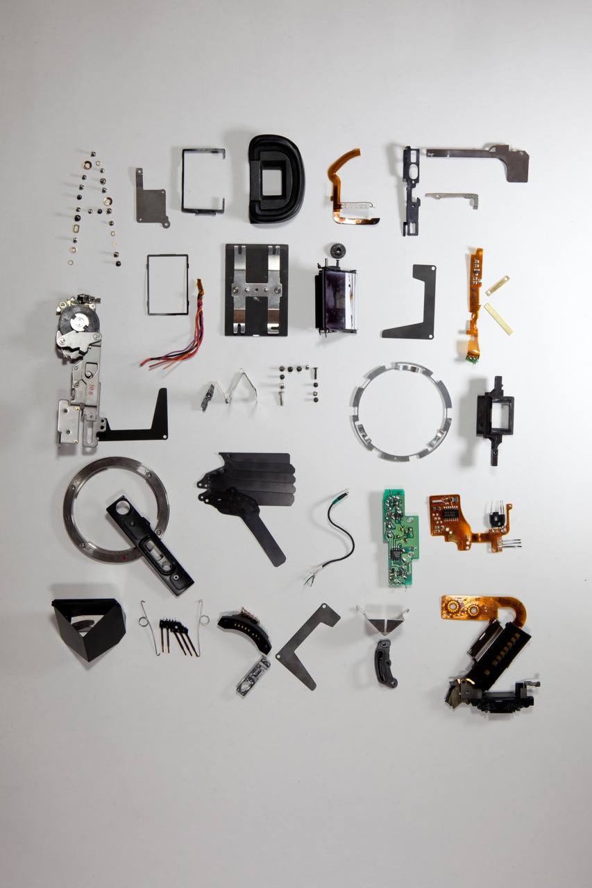 stefanabrahams:  type face made from deconstructed camera by stefan abrahams