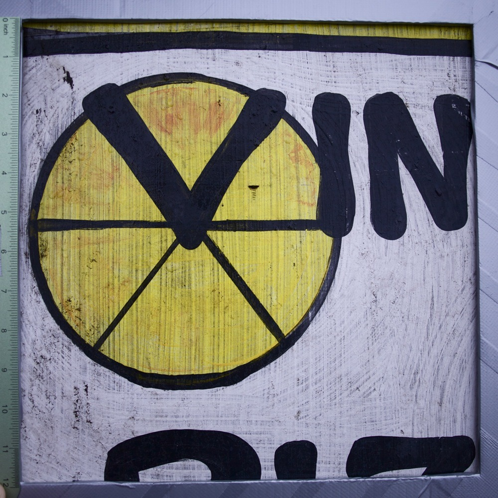 A-frame sandwich board sign for Vinnies Pizza, with yellow and black pizza symbol, N Ivanhoe St. Vinnies is this hole-in-the-wall pizza joint that I don't know how exactly they stay in business, but they're local and they deliver so we try to order from them a fair amount of the time if we're ordering pizza.  Cheese and pineapple, just about the perfect thing with a cold beer and they're prompt as hell about getting it to the house. The send out menu mailers every few months with coupons inside that I mostly just can't bring myself to use because the pizza's already nice and cheap.