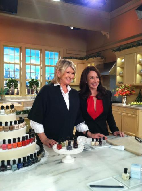 deborahlippmann:  I taped @MarthaStewart show today. She has been my mentor for a long time. Air times  Friday, 12.23 at 10AM  2PM ,Monday, 12.26 at 1PM Eastern  This is like a dream come true! Two of my heroes interacting. I'll definitely be watching at 2:00 p.m.