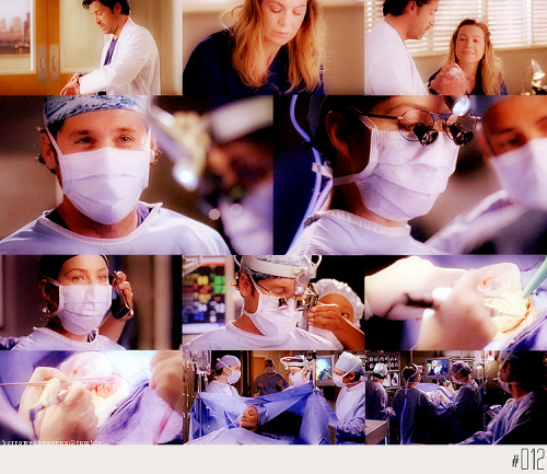 Meredith: Let me finish, Derek. I've got this.Derek: Yes, you do.  7x05 Almost Grown