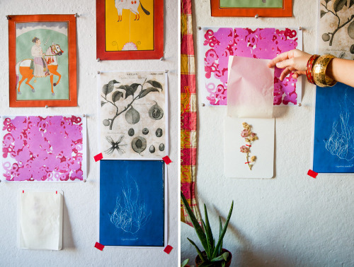 texturism:  a glimpse of lily stockman's studio | via  the makers project