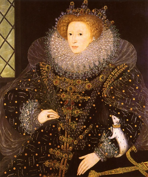 """The Ermine Portrait"". Painted in 1585 by Nicholas Hilliard  In the collection of the Marquess of Salisbury; On Display at Hatfield House"