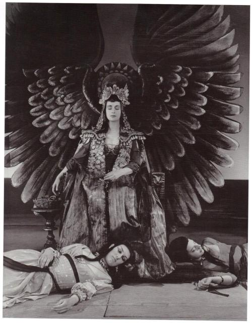 Angus McBean - Peggy Ashcroft as Cleopatra in Antony and Cleopatra. Shakespeare Memorial Theatre, Stratford-upon-Avon, 1953. (… from The Theatrical World of Angus McBean by Fredric Woodbridge Wilson, an Imago Mundi Book, Published by David R. Godine, 2009.)