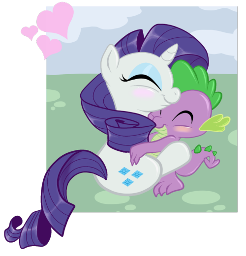 fuckyeahrarity:  (via Rarity and Spike snuggles by =Starlite-Synth)