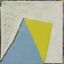 eyequeue:  Raoul De Keyser Zeilen heuvels #10, 1979oil on canvas, 40 x 40cm