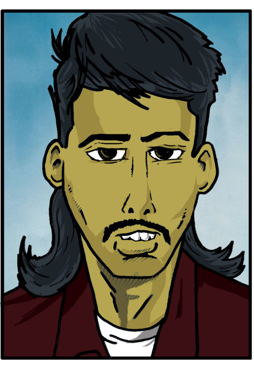 Adnan H. Ethnic mullet, example three… Never laid eyes on duke until now – but I like his particularly. His whole stee' seems slightly sinister, nawimean? I don't mean in some stereotypical-terrorist-True-Lies type shit.  If we're talkin' villainous stereotypes, I'd say he's moreso a Snidley Whiplash – and the mullet is just a delicious bonus. Apologies if I made him seem a li'l grotesque, but Otto Dix seemed to do it and peeps ain't seem to mind…