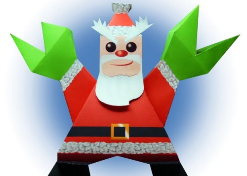 (via Super Punch: Monstrous Santa Claus paper toy) Download Santa Claws here. Via.