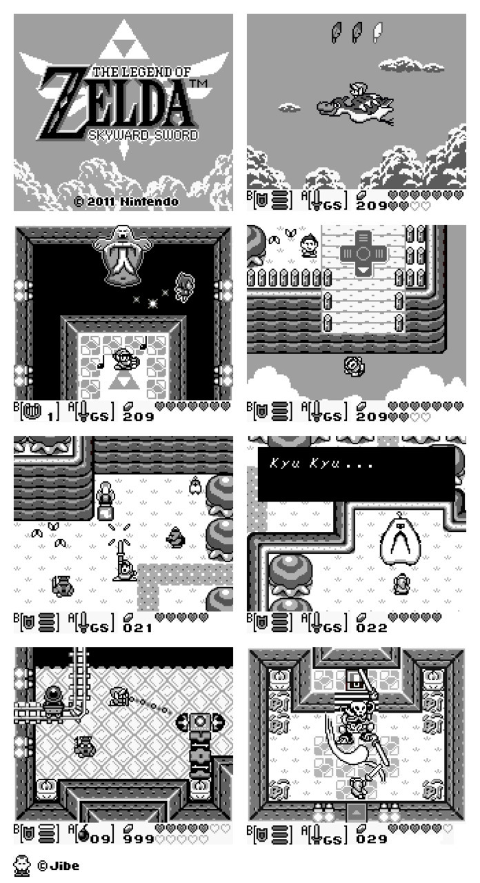 Skyward Sword re-imagined on the Gameboy <3 (via sansemploi)