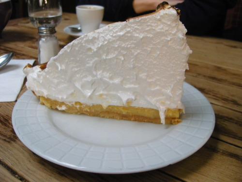 This is the lemon meringue pie at Le Loir dans la Théière. It's crazy. And your teeth might fall out of your head if you eat it all by yourself. So go with someone to share it with, which is what I did one afternoon with Anne, Kali, and Felicia. I think my spoon must have been bigger than everyone else's.